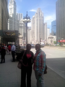 Terry and Bukky on Michigan Avenue